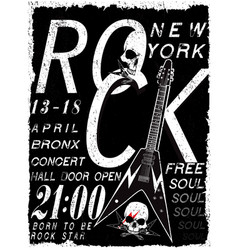 rock poster vintage rock and roll typographic for vector image vector image