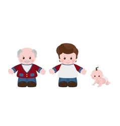 Three generations Men of different ages vector image