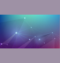 abstract cyber plexus space concept network vector image