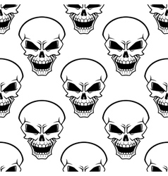 Aggressive skulls seamless pattern background vector