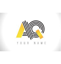 Aq black lines letter logo creative line letters vector