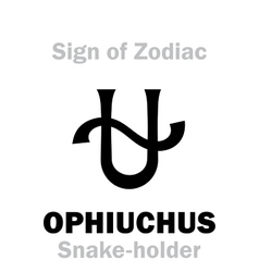 Astrology Sign of Zodiac OPHIUCHUS The Snake vector image