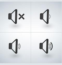 Audio speaker volume or music speaker volume icons vector