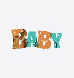 Baby concept stamped word art vector