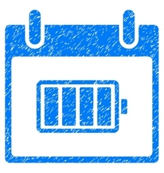 Battery Calendar Day Grainy Texture Icon vector image