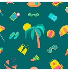 beach tourism and travel seamless pattern vector image