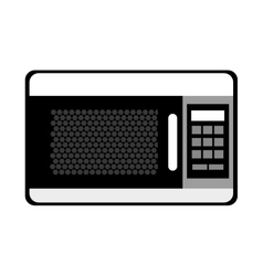 black and white microwave graphic vector image