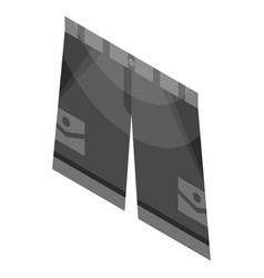 black shorts icon isometric style vector image