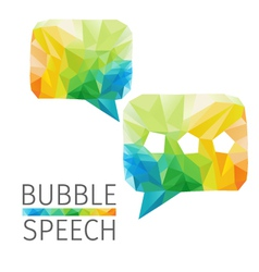 Bubble speech polygon vector