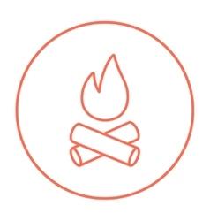 Campfire line icon vector