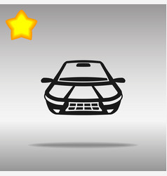 car black icon button logo symbol vector image
