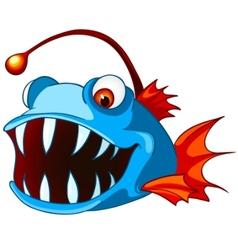 cartoon character fish vector image