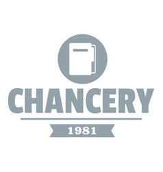 chancery logo simple gray style vector image