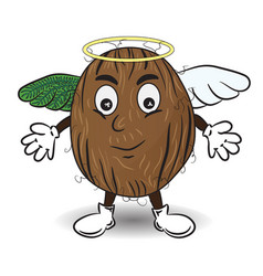 coconut like an angel vector image