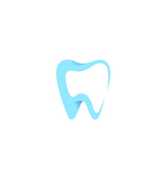 creative dental care clean blue teeth logo vector image