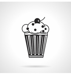 Cupcake with raisins black icon vector