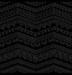 dark crochet seamless pattern vector image