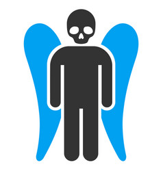 Death angel flat icon vector