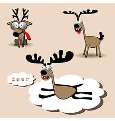 Deer smile vector image