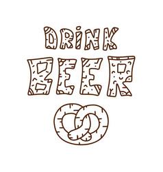 Doodle beer theme vector