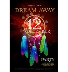 Dream Away Party Flyer DreamCatcher vector image