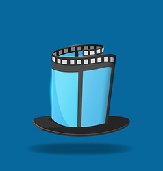 Film Hat Magic Movie Icon vector image