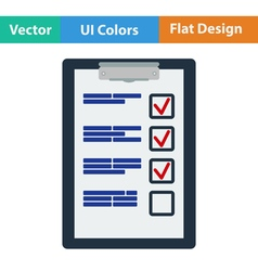 Flat design icon of Training plan tablet vector