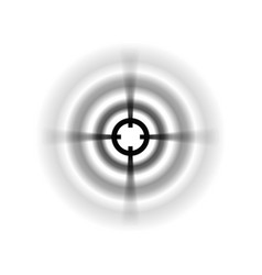 Focus icon with blurred selective focus vector