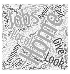 Get Creative With Jobs At Home Word Cloud Concept vector