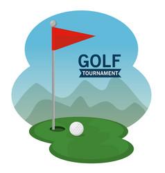 golf course landscape design vector image