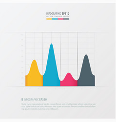 Graph and infographic design yellow blue pink vector