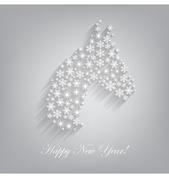 Horse Happy new year 2014 vector image