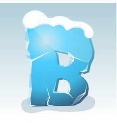 Ice letter b vector