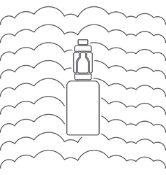 icon or emblem of an electronic cigarette vector image vector image