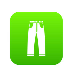 jeans icon digital green vector image