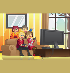 Kids playing video games vector