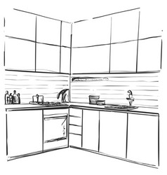 Kitchen Sink Line Drawing Vector Images Over 170