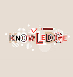 knowledge education creative word over abstract vector image