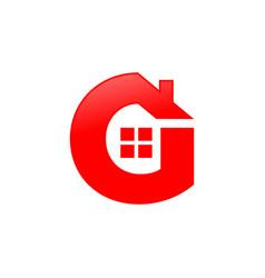 Letter g house shape icon symbol design vector