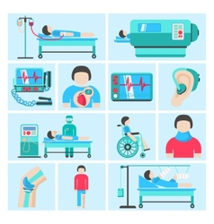 Life support medical equipment icons vector