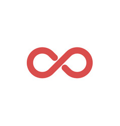 Limitless abstract logo template infinity symbol vector