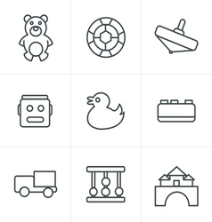 Line Icons Style Toys Icons vector