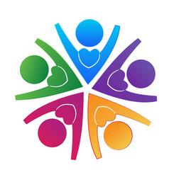 loving team people logo vector image