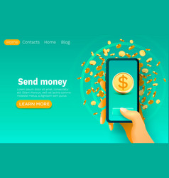 mobile financial application bank service smart vector image
