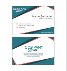 modern simple business card template 2 vector image