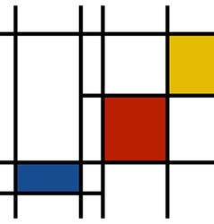 Mondrian inspiration vector