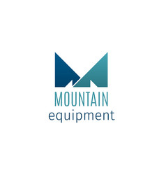 mountain equipment creative emblem vector image