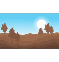 nature landscape on brown vector image