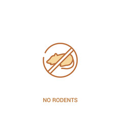 No rodents concept 2 colored icon simple line vector