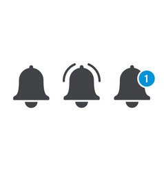 notification message bell icon vector image